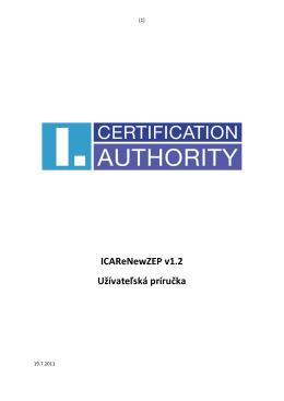 Užívatelská príručka - První certifikační autorita, a.s.