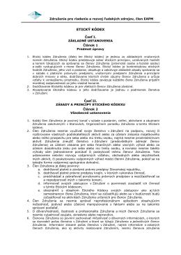ETICKÝ KÓDEX - Združenie pre riadenie a rozvoj ľudských zdrojov
