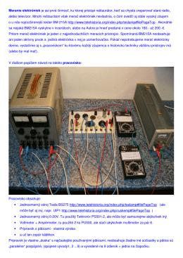 Meranie elektróniek je asi prvá činnosť, ku ktorej pristúpi reštaurátor
