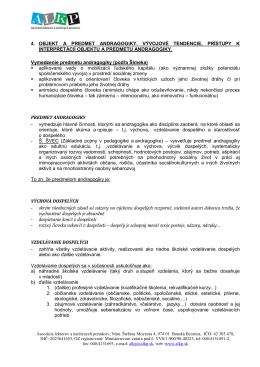 4. Objekt a predmet andragogiky - Asociácia lektorov a kariérnych