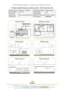 STAUMAN katalóg – projektovanie rodinných domov Situácia stavby