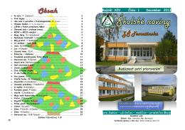 Ročník: XIV. Číslo: 1 December 2013 pre žiakov – učiteľov – rodičov