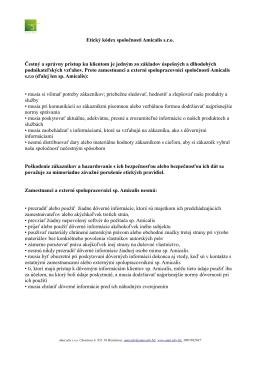 Stiahnúť Etický kódex spoločnosti Amicalis s.r.o.
