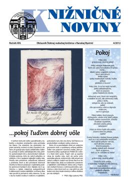 pdf verzia KN2012-4 - Štátna vedecká knižnica v Banskej Bystrici