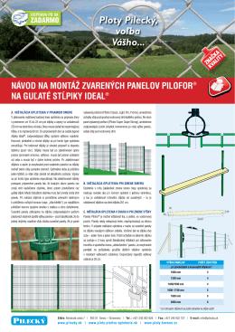 návod na montáž zvarených panelov pilofor® na guľaté stĺpiky ideal