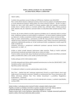 Krúžky a aktivity, ponúkané v šk. roku 2014/2015 pre žiakov Narnie