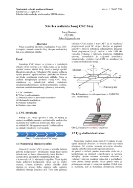 Návrh a realizácia 3-osej CNC frézy.