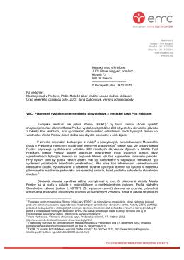 Mestský úrad v Prešove JUDr. Pavel Hagyari, primátor Hlavná 73