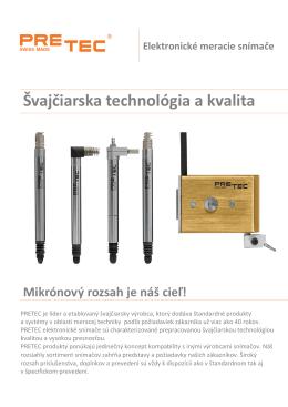 Elektronické meracie snímače Švajčiarska technológia a kvalita