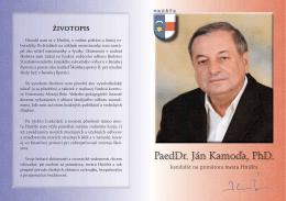 PaedDr. Ján Kamoďa, PhD.