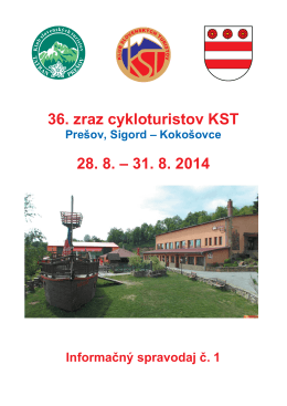 36. zraz cykloturistov KST - Klub slovenských turistov regiónu Šariš