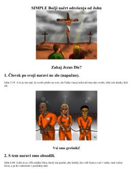 SIMPLE Božji načrt odrešenja od John Zakaj Jezus Die? 1. Človek