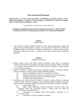 VZN o postupe a podmienkach pri poskytovaní jednorazovej dávky v