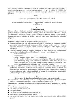 Obec Martovce v zmysle § 6 a § 4 ods. 3 písm. p) zákona č. 369