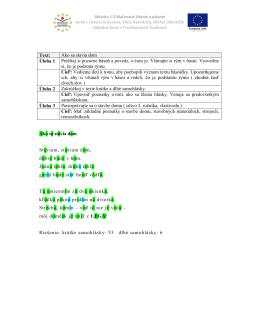 Text: Ako sa stavia dom Úloha 1 Prečítaj si pozorne báseň a povedz