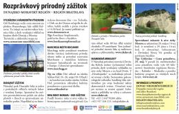 Inzercia – cezhraničné prírodné zážitky bola uverejnená v denníku