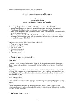 Tanyz 0,4 mg kapsule s riadeným uvoľňovaním , PIL.pdf