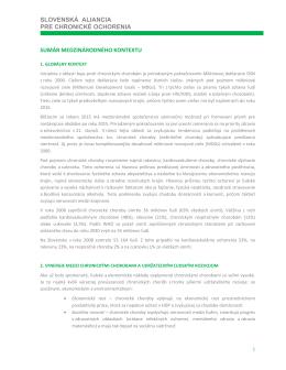 slovenská aliancia pre chronické ochorenia sumár medzinárodného
