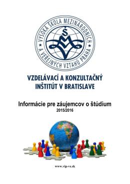 Informácie pre záujemcov o štúdium / štud. poradcov 2015/2016