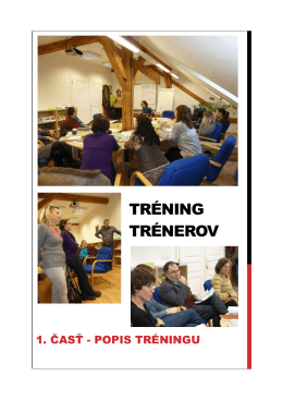 tréning trénerov - Capacity building of human resource for heatth in