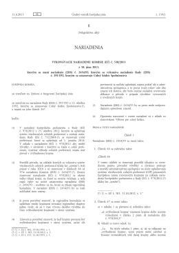 Vykonávacie nariadenie Komisie (EÚ) č. 530/2013 z 10. júna 2013
