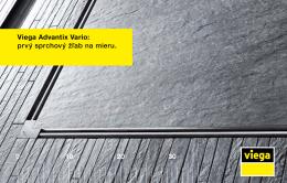 Viega Advantix Vario: prvý sprchový žľab na mieru.