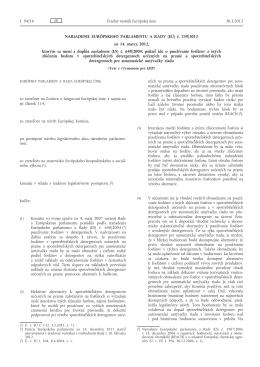 Nariadenie Európskeho parlamentu a Rady (EÚ) č. 259/2012 zo 14
