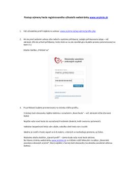 Manuál zmeny užívateľského hesla - Slovenská asociácia srdcových