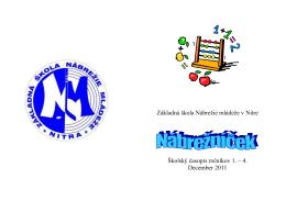 Nábrežníček 12.2011 - Základná škola, Nábrežie mládeže 5, Nitra