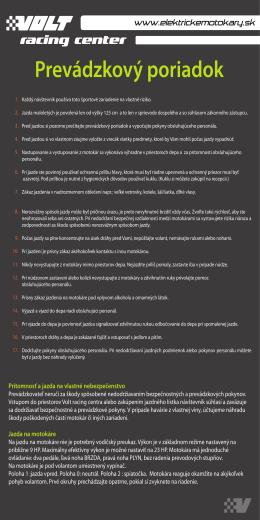 Pravidlá Oboznámte sa s bezpečnostnými a ostatnými pravidlami