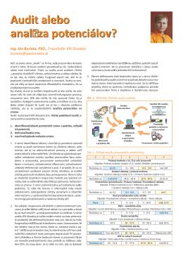 Audit alebo analýza potenciálov.cdr