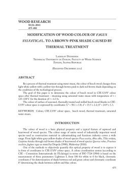 wood research modification of wood colour of fagus sylvatica l. to a