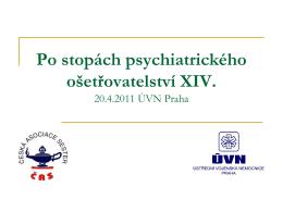 Po stopách psychiatrického ošetřovatelství XIV.
