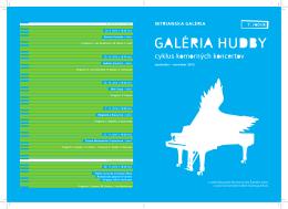 Galéria hudby 28. 11. 2012 o 18.00 hod.