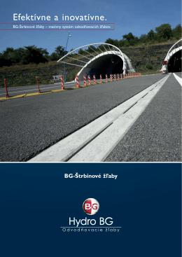 BG Štrbinové žľaby v tomto 20-str. prospekte.