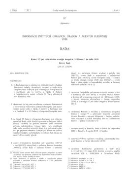 Rámec EÚ pre vnútroštátne stratégie integrácie Rómov do roku 2020