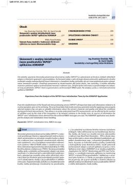 Skúsenosti z analýzy inicializačných časov používateľov SKPOS