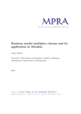Business model multiplex cinema and its application in Slovakia