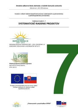 systematické riadenie projektov - Stredná odborná škola obchodu a