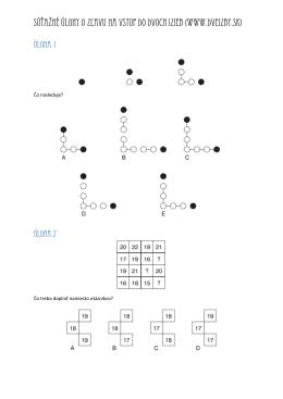 Súťažné úlohy o zľavu na vstup do Dvoch izieb (www.dveizby.sk)