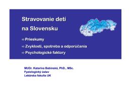 Stravovanie detí na Slovensku - Združenie pre zdravie a výživu