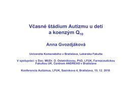 Prezentácia Doc. RNDr. Anna Gvozdjáková, DrSc.