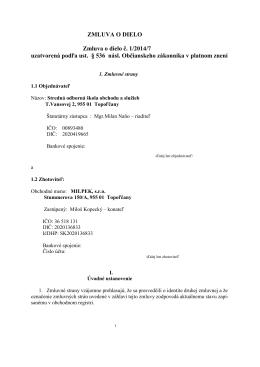 Zmluva o dodávke tovaru č - Stredná odborná škola obchodu a služieb