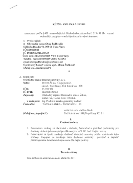 a 2. Kupujuci: TATRA BANKA - 2622455615/1100 II.