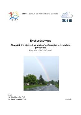 Ekošoférovanie. Technical report.