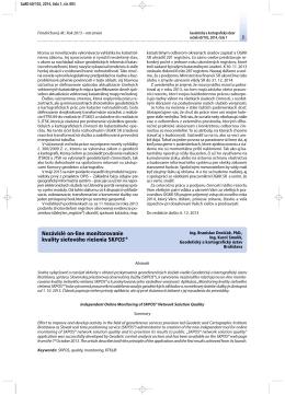 Nezávislé on-line monitorovanie kvality sieťového riešenia SKPOS®