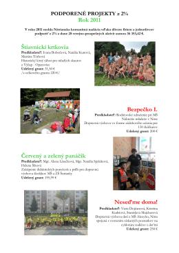 Rok 2011 Štiavnickí krtkovia Bezpečko I. Červený a zelený panáčik
