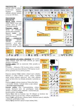 PHOTOFILTRE je grafický editor na editáciu a retušovanie obrázkov
