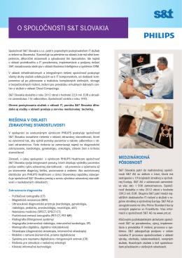 Profil riešení S&T Slovakia v oblasti zdravotnej starostlovsti v PDF