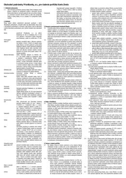 Obchodné podmienky Privatbanky, as, pre riadenie portfólia Konto